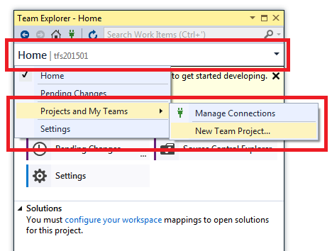 How To Create A New Team Project Tfs